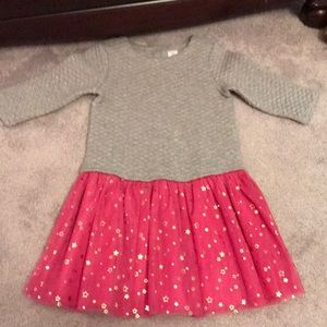 Girls grey and pink dress